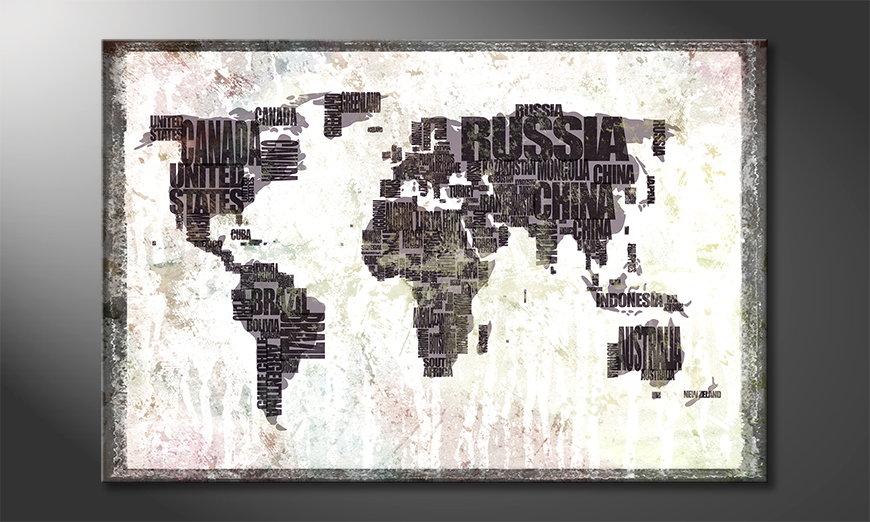 El cuadro Mapa del Mundo 17