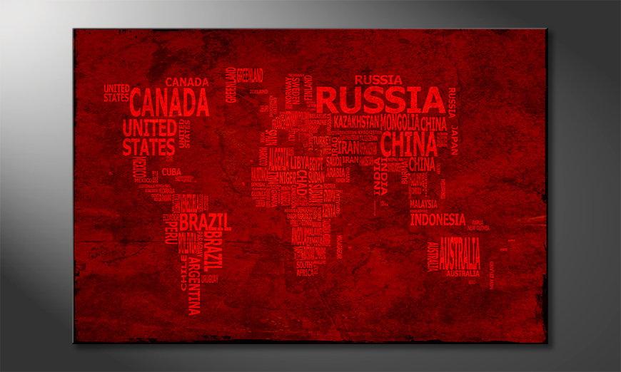 El cuadro Mapa del Mundo 18