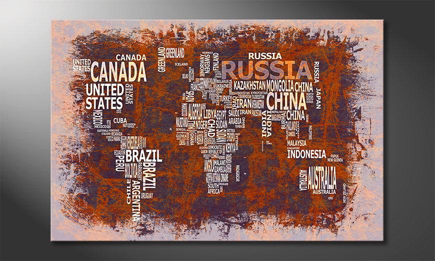 El cuadro Mapa del Mundo 19