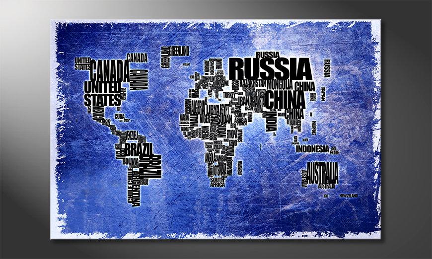 El cuadro Mapa del Mundo 2