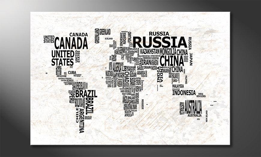 El cuadro Mapa del Mundo 21