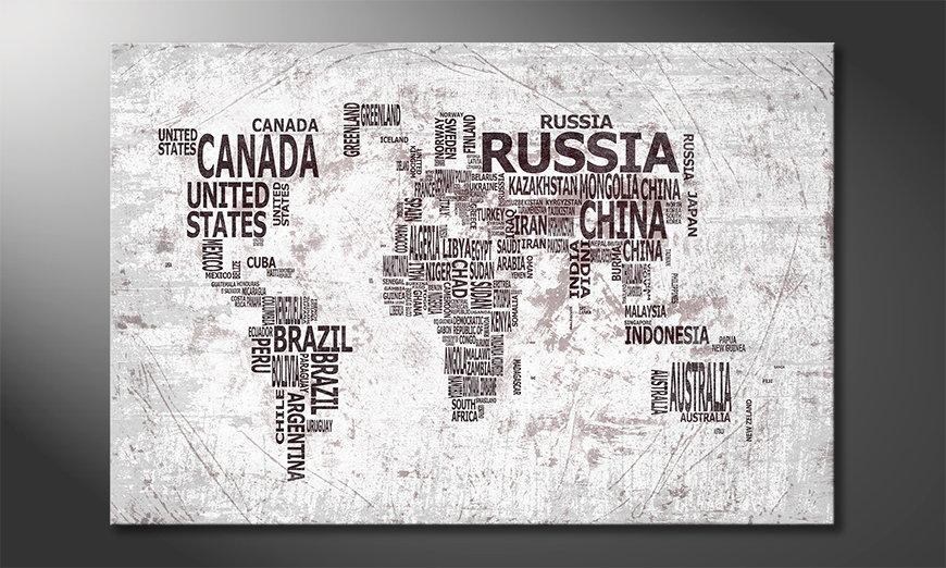 El cuadro Mapa del Mundo 22