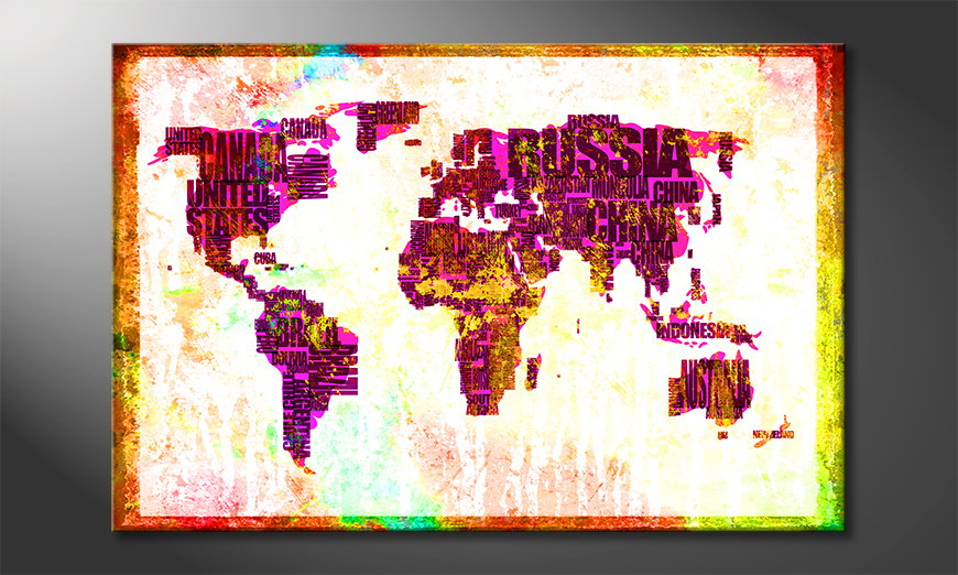 El cuadro Mapa del Mundo 3