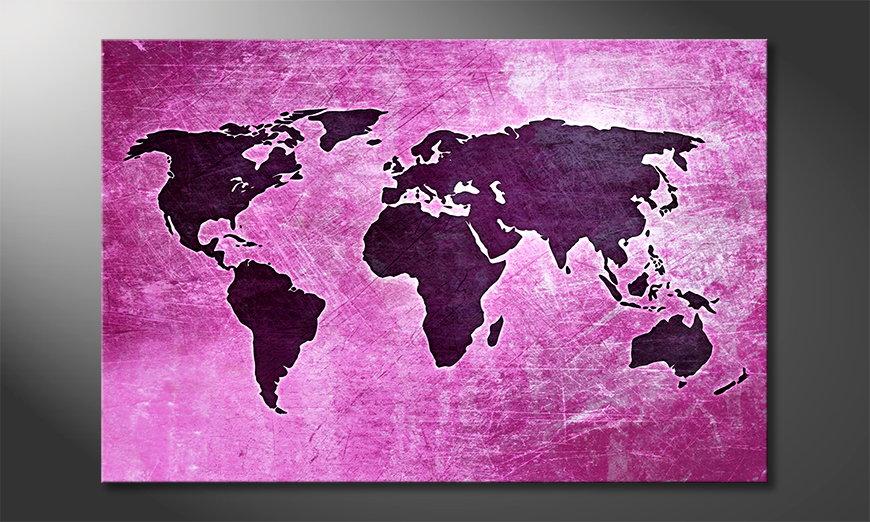 El cuadro Mapa del Mundo 4