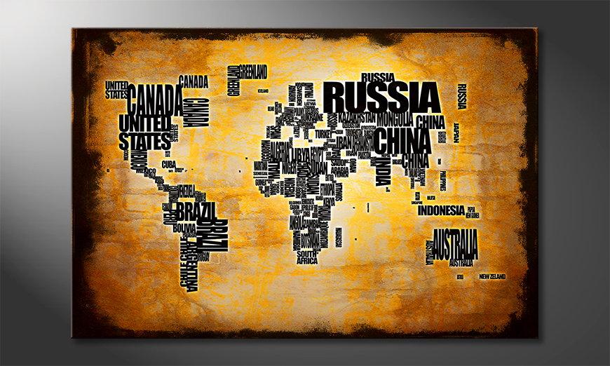 El cuadro Mapa del Mundo 5