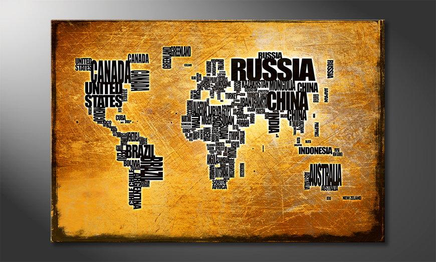 El cuadro Mapa del Mundo 6