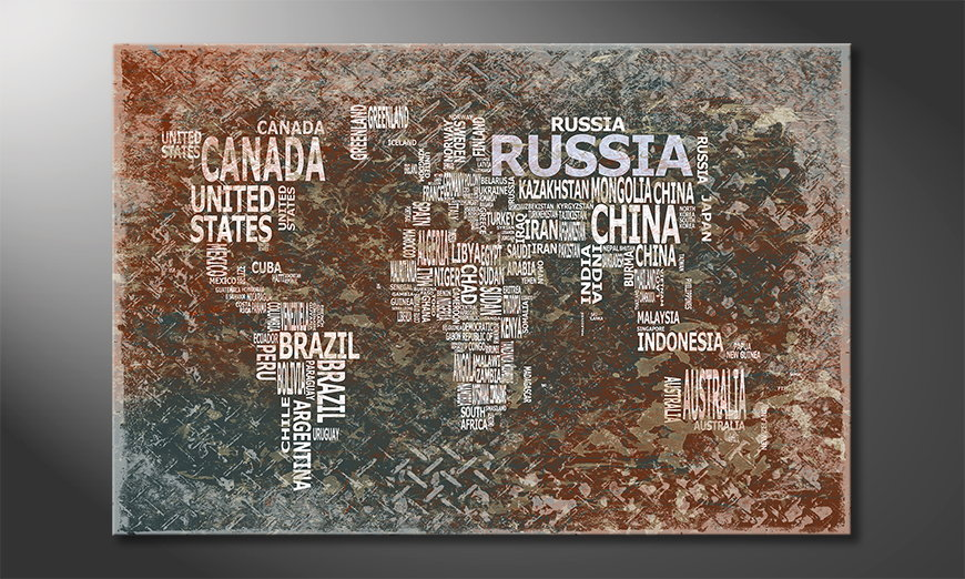 El cuadro Mapa del Mundo 8