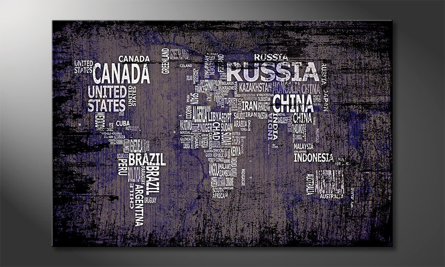 El cuadro Mapa del Mundo 9