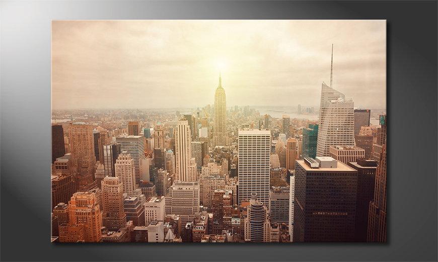 El cuadro New York Retro
