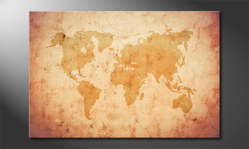 El cuadro Old Worldmap
