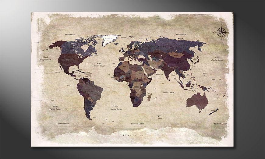 El cuadro Old Worldmap 3