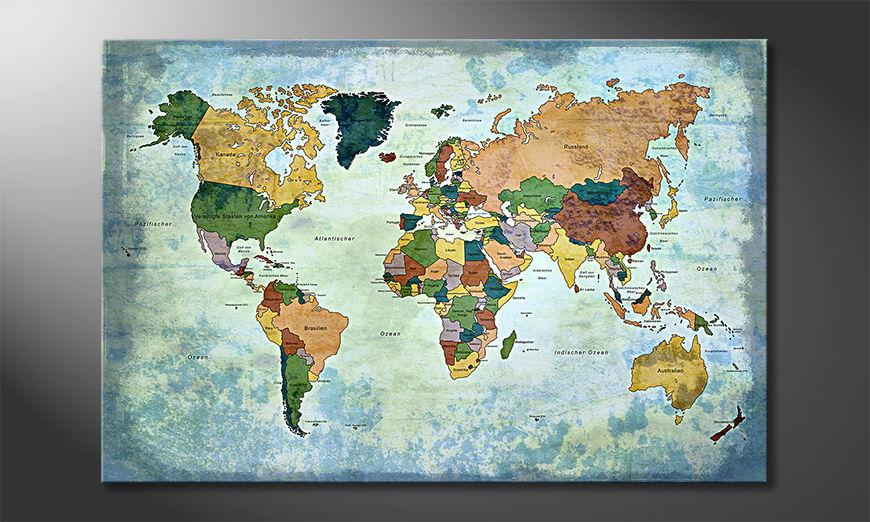 El cuadro Oldworldmap one