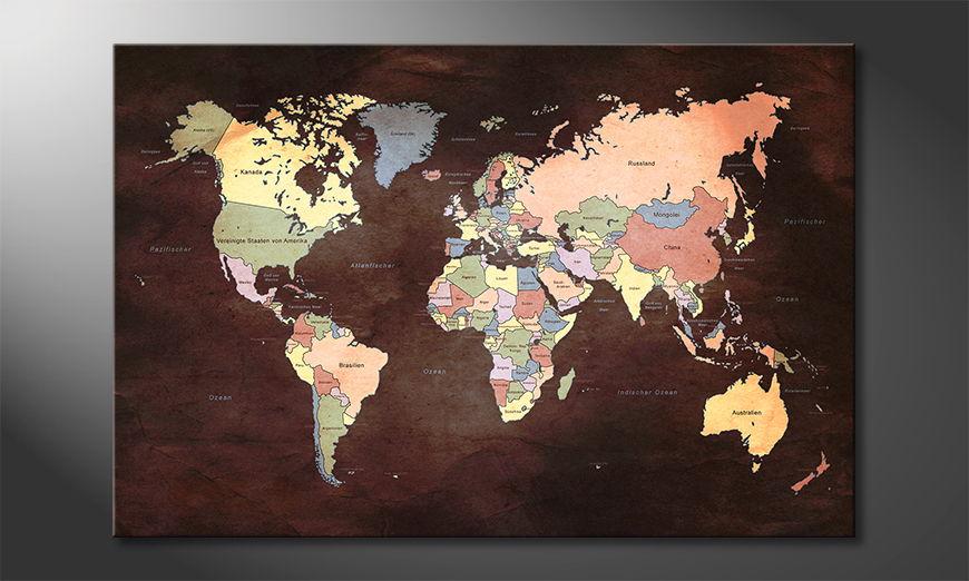 El cuadro Oldworldmap two