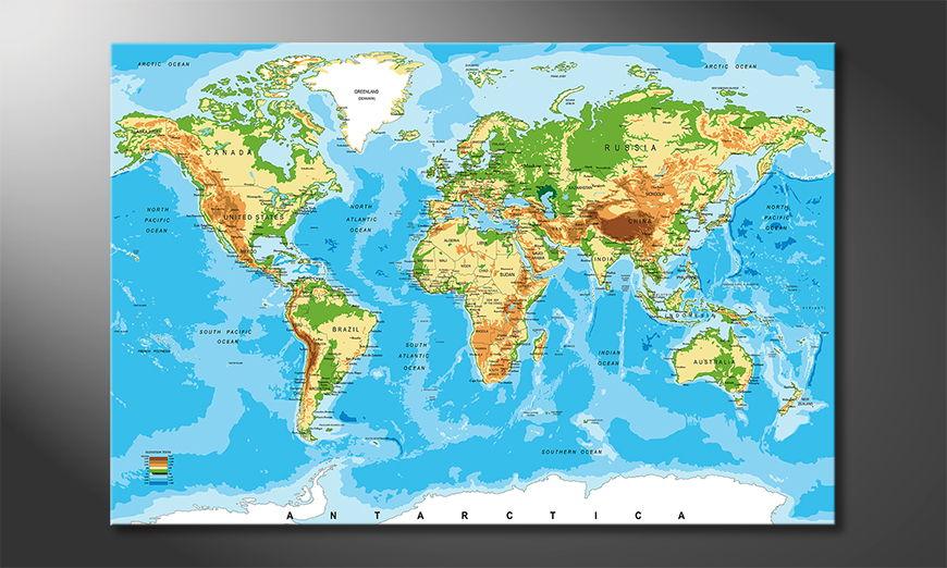 El cuadro Physical Worldmap