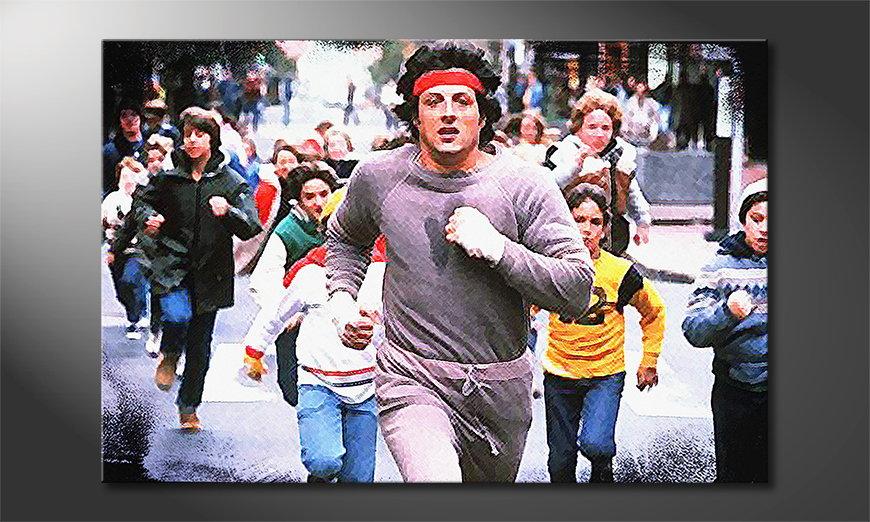 El cuadro Run Rocky Run
