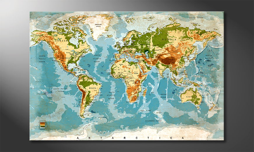 El cuadro Used Worldmap