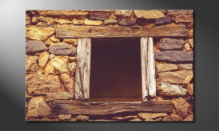 El cuadro Wooden Window