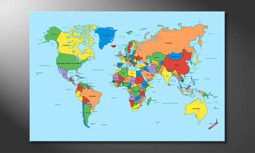 El cuadro Worldmap Classic