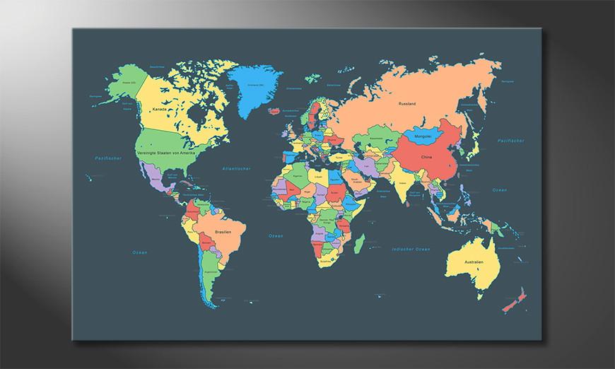 El cuadro abstracto Colorful Map