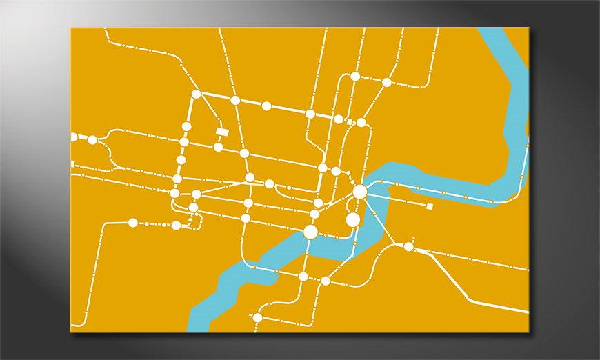 El cuadro abstracto Metro Shanghai