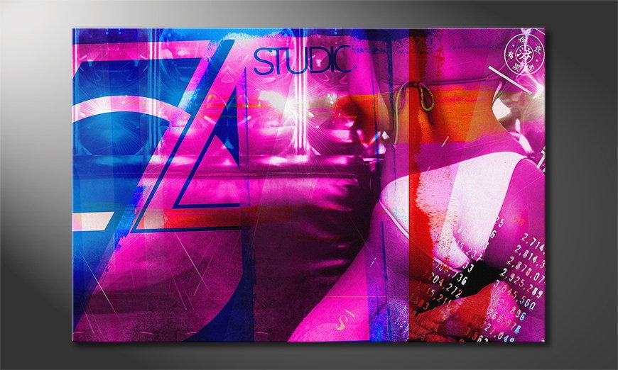 El cuadro abstracto Studio 54