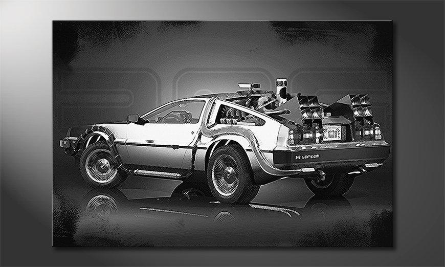 El cuadro con estilo DeLorean