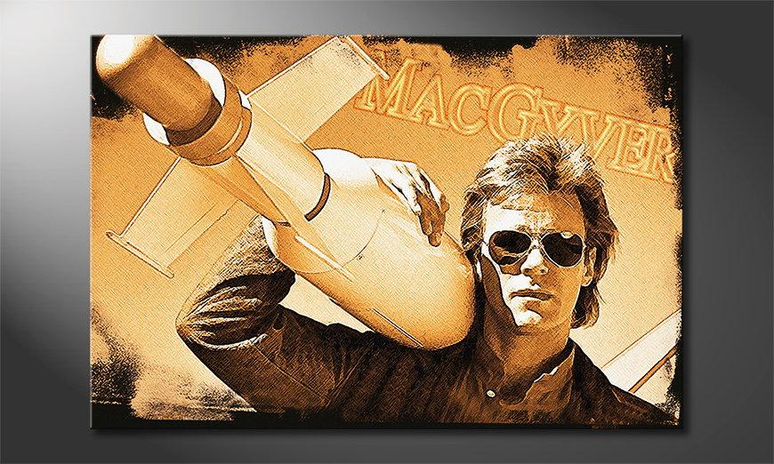 El cuadro de culto sobre lienzo MacGyver