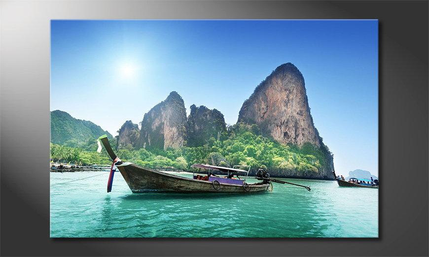 El cuadro impreso Boats in Bay