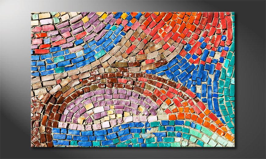 El cuadro impreso Colorful Mosaic