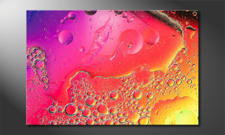 El cuadro impreso Colorful Water I