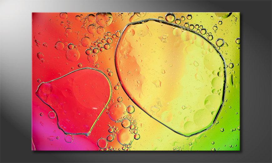 El cuadro impreso Colorful Water II