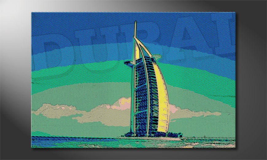 El cuadro impreso Dubai