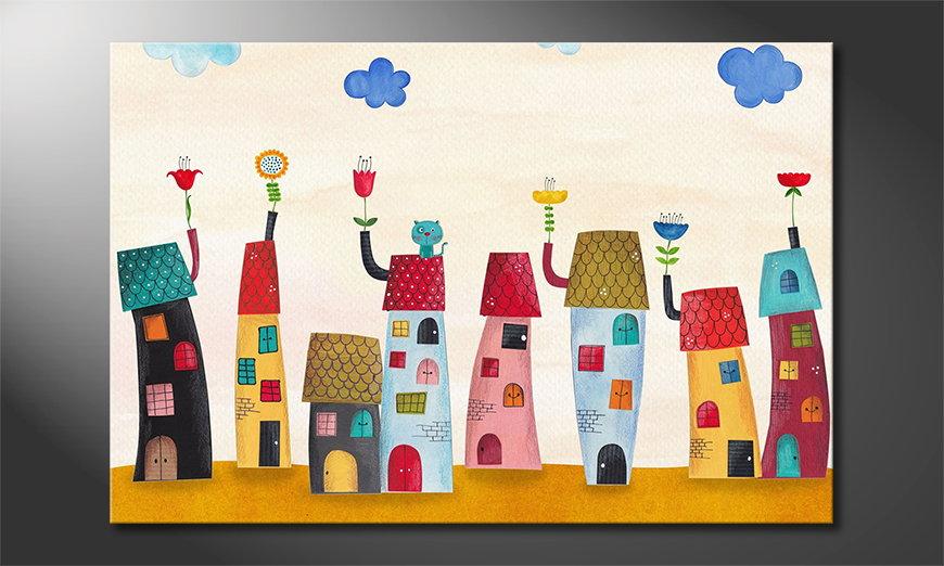 El cuadro impreso Fairytale Town