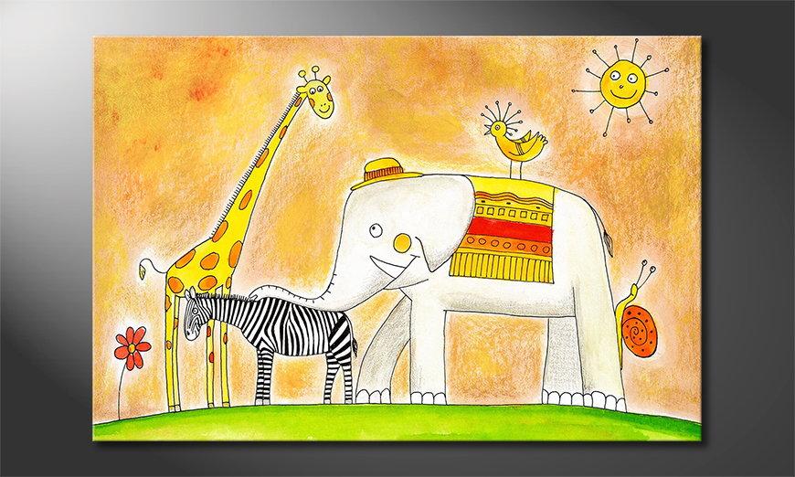 El cuadro impreso Group of Animals