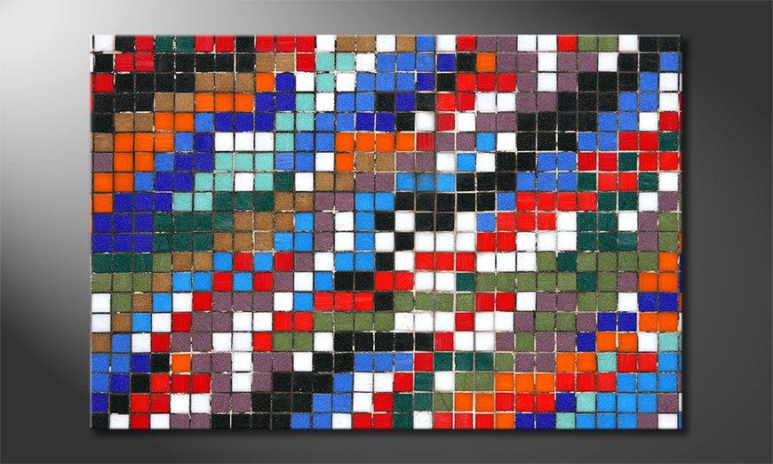 El cuadro impreso Mosaic