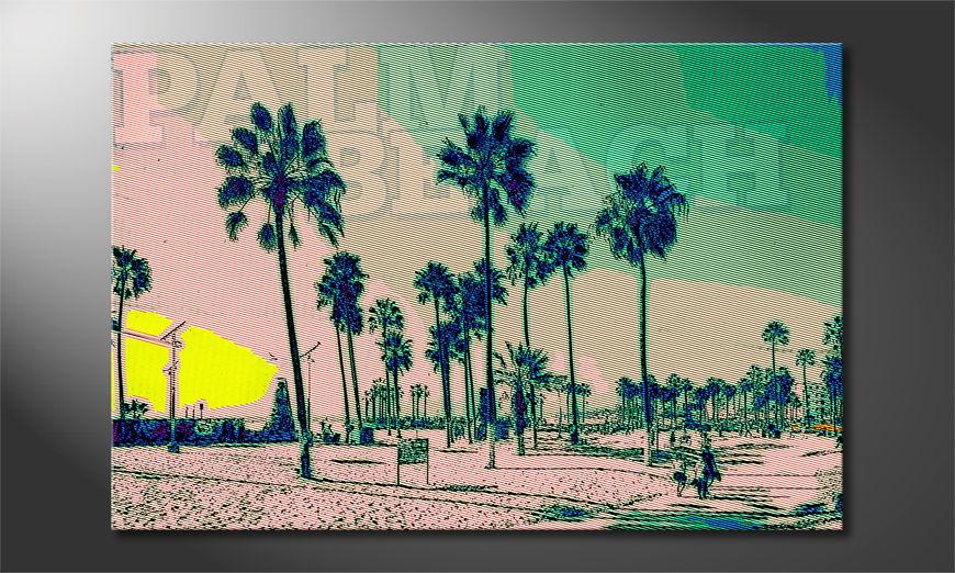 El cuadro impreso Palm Beach