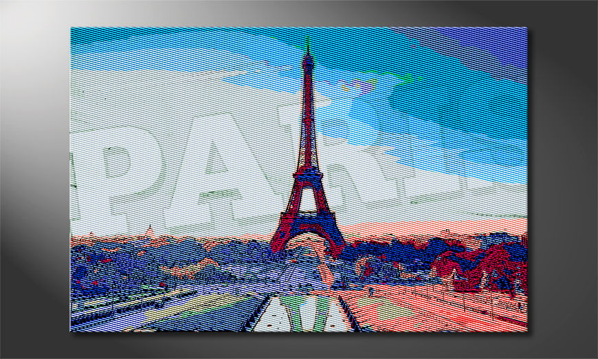 El cuadro impreso Paris