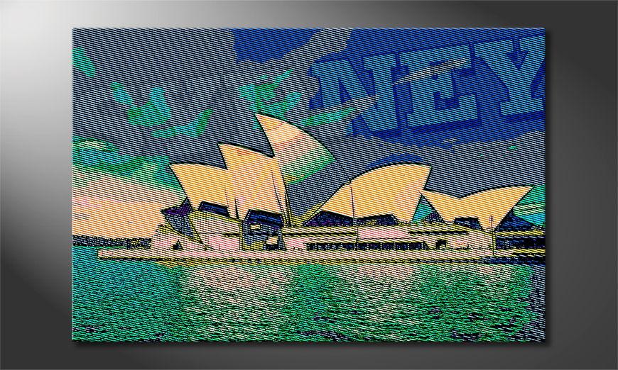 El cuadro impreso Sydney