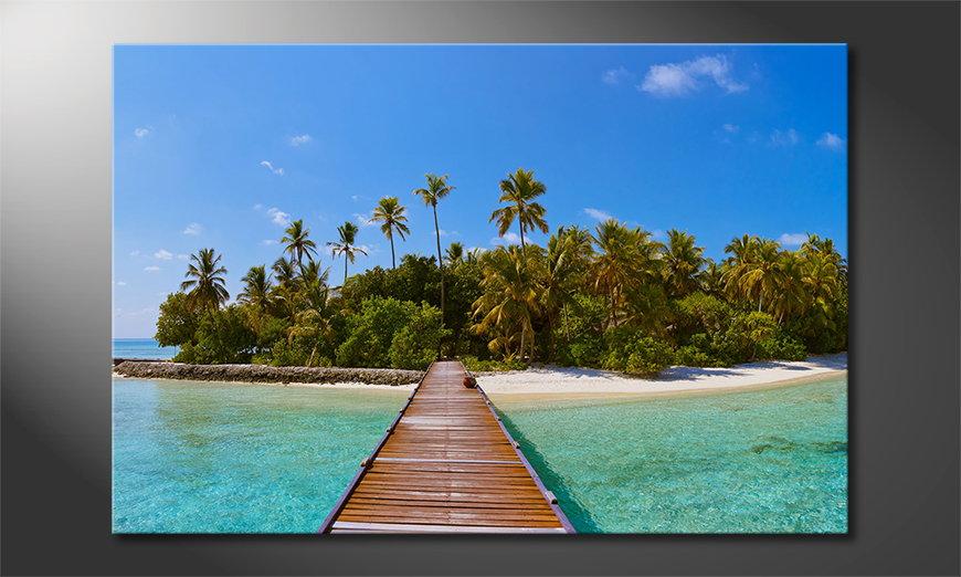 El cuadro impreso Tropical Way