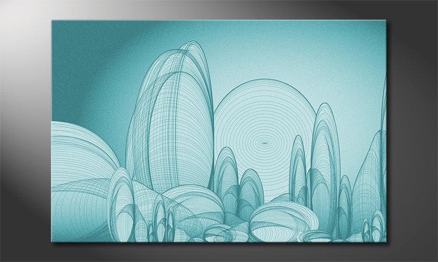 El cuadro impreso sobre lienzo Circle Landscape