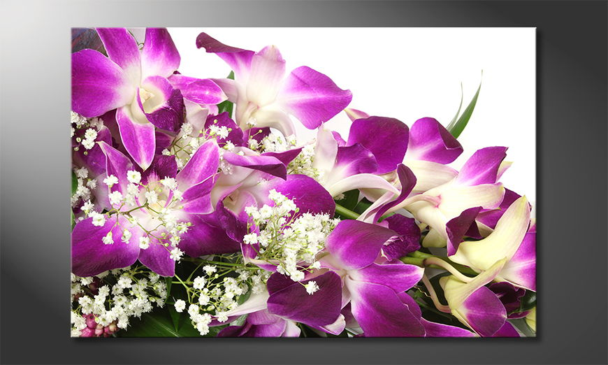 El cuadro impreso sobre lienzo Orchid Blossoms