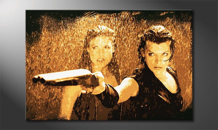 El cuadro impreso sobre lienzo Resident Evil