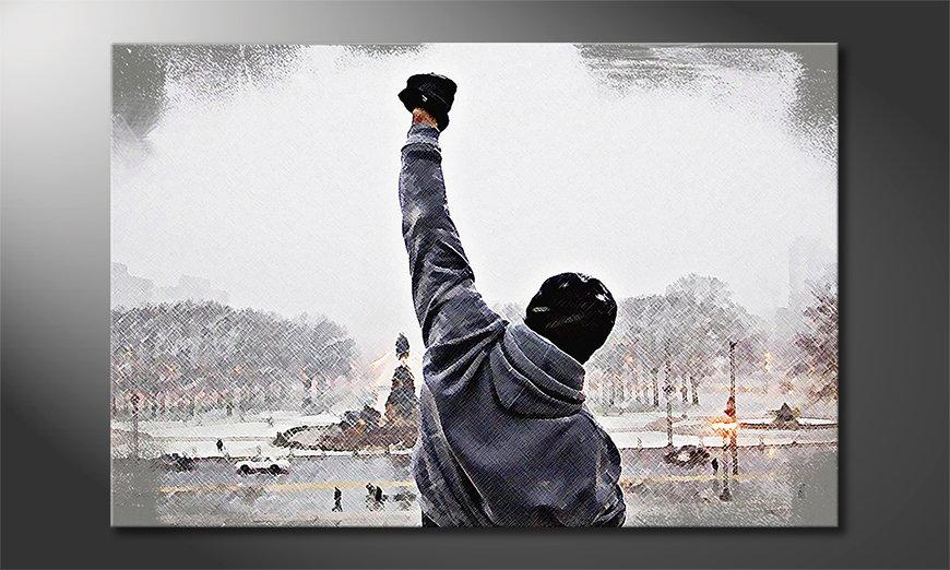 El cuadro impreso sobre lienzo Rocky Moment