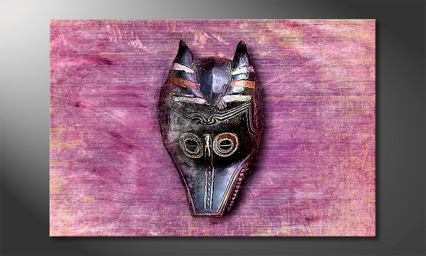 El cuadro moderno Afro Mask