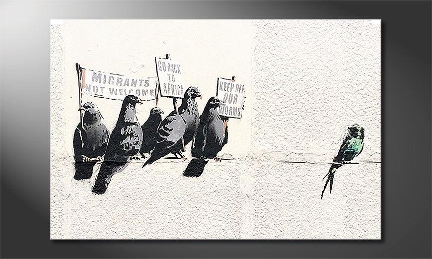 El cuadro moderno Banksy No11