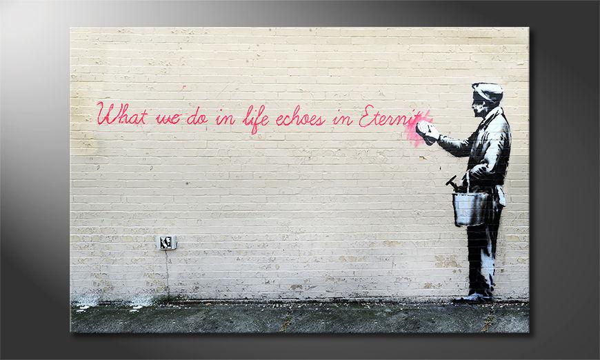 El cuadro moderno Banksy No17
