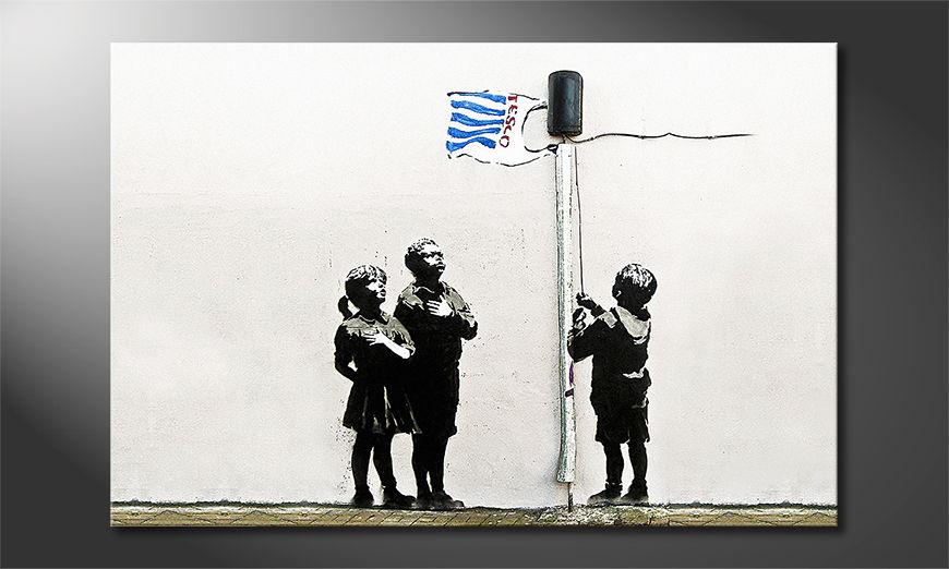 El cuadro moderno Banksy No18