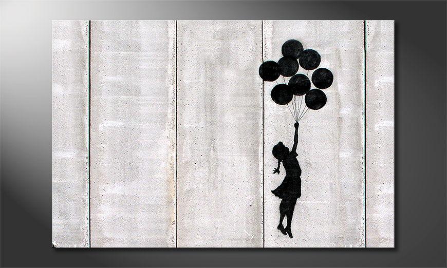 El cuadro moderno Banksy No3