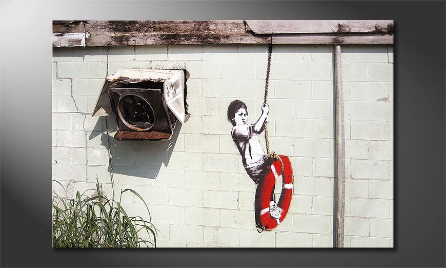 El cuadro moderno Banksy No4