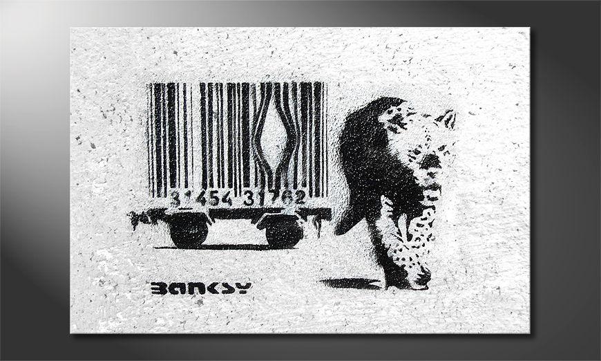El cuadro moderno Banksy No5